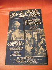 Partitura Chante Chante mon corazón Los Aventuras Casanova Georges Guétary
