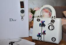 Lady Dior Handtasche weiss mit Blumenapplikation NP3700 *neu*