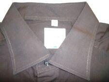 E7841 Olymp Tendenz Businesshemd Kombimanschette 43 dunkelbraun Unifarben