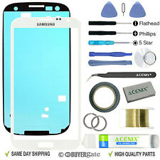 Samsung Galaxy Note 2 FRONT/OUTER Glass Lens Replacement Screen Repair Kit WHITE