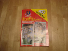 Rangers Football Scottish Fixture Programmes (1980s)