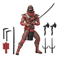 Hasbro G.I. Joe Classified Series Red Ninja Action Figure Collectible Premium To