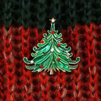 Claus Clip Santa Christmas Rhinestone Pin Coat Cap Brooch Jewelry Tree Vintage