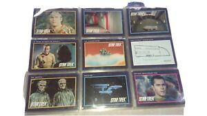60 Star Trek 25th Anniversary TV Series 1991 Trading Cards in sleeves