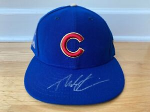 Theo Epstein Chicago Cubs Signed Autographed 2016 WS Champion Hat - NEW