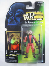 Star Wars Power of the Force Nien Nunb Figure w/accessories - Mint on Card 1997