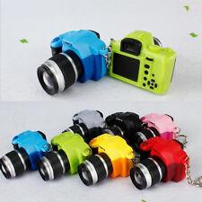 Mini LED Digital SLR Camera Keychain Keyring Luminous Sound Handbag Pendant Gift