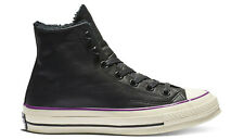 Converse Unisex Chuck '70s Black Street Warmer Leather Hi Top Lace Up Trainers