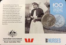 2015 Anzac centenary nurses  20 cents UNC