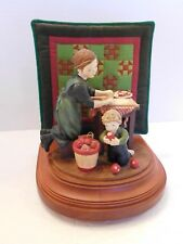 """Willits Amish Heritage Collection Music Box """"Mother's Little Helper""""Mother & Boy"""