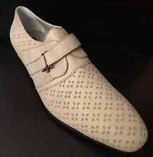 CESARE PACIOTTI US 12 STYLISH BEIGE LEATHER LOAFERS ITALIAN DESIGNER MENS SHOES