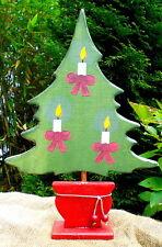 ❀ Weihnachtsbaum aus Holz 37cm Schöner Tannenbaum mit Kerzen Weihnachtsdeko #59A