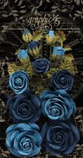 Graphic45 Bon Voyage & French Blue Rose Bouquet (15pc) scrapbooking
