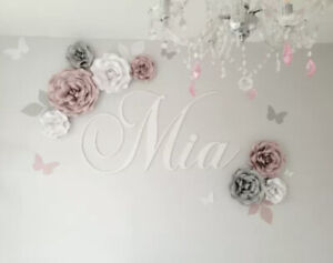 set of Roses large Paper Flowers Backdrop, Birthday, Nursery, Wall Decorations,