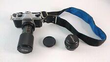 Pentax K1000 35mm SLR Film Camera w/ Pentax 50 mm & Vivitar 52 mm Lens