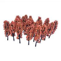 S2 3,3 Zoll Gruen Zug Set Scenery Landschaftsmodell Baum mit Pfirsich Blumen Mas