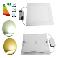 Ultra Slim 3W-24W LED Recessed Ceiling Flat Panel Light Downlight Lamp Square UK