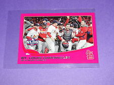 2013 Topps #269 Mini Pink Variant/25 ST LOUIS CARDINALS Team Card - 2012 NLDS