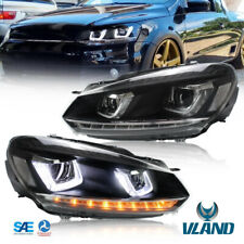 LED faro Per VW Golf 6 MK6 VII 2008-2013 fari frontale con segnale sequenziale