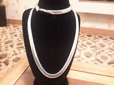 Brand new silver 6mm wide 20in long snake chain  necklace with gift box