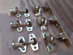 Vintage old Antique Style Brass Sash Window Lock Latch Catch Sold Singular