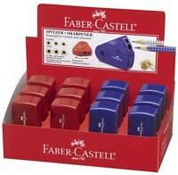 Puntas doble Faber-Castell Sacapuntas de lápiz Spitzer Latas 182701 azul o rojo