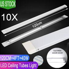 10x 40w 4ft Led Linear Batten Tubes Light Ceiling Surface Mount Cool White Lamp