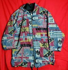 Adidas Men L 1994 USA World Cup Soccer Windbreaker Hooded VTG Jacket Reversible