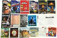 Nintendo DS Sega Genesis Gamecube Wii Xbox Assorted Manual LOT - Pokemon Batman