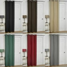 EMBOSSED THERMAL EYELET DOOR CURTAIN PANEL ENERGY SAVING DRAUGHT DRAFT HEAT LOSS