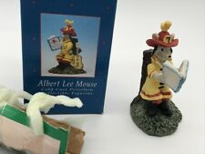 New In Opened Box Angie Sinclair Albert Lee Mouse Porcelain Figurine Ornament