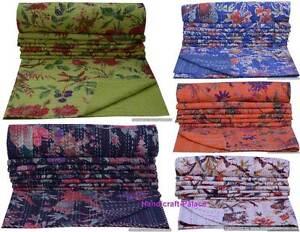 Indien Oiseau Set Indien Coton Couvre-Lit Couverture Décor Vintage Ethnique Art