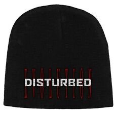 Disturbed Red Evolution Official 3D Embroidered Black Beanie Hat Mens Ladies