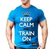 New Men's Monsta Clothing Fitness Gym T-shirt - Keep Calm and Train On