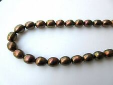 Fresh Water Pearl Loose Pearls Potato Pearls Oval Brown Pearls 15 Inches - Fp28