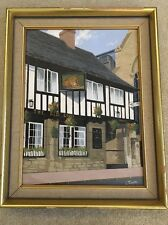 Lesbia Thorpe Original Oil Painting The Red Lion Gloucestershire England