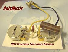 COMPATIBLE WITH FENDER 1951 PRECISION BASS  REPRO VINTAGE WIRING HARNESS