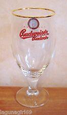 Budweiser Budvar Czech Lager Beer Stemmed Pint Glass Pub Home Bar Unused M15
