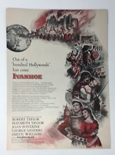 Original Print Ad 1952  Movie Ad IVANHOE Robert Taylor Liz Taylor Vintage Art