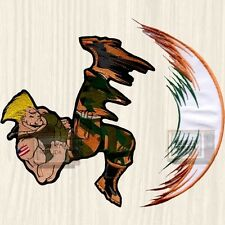 Street Fighter 2 Guile Big Embroidered Patch Character Capcom Super USA Army