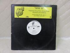 WW III Single Vinyl LP Young Wun Snoop Dog Jadakiss Scarface Promo Record