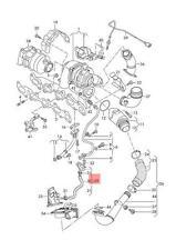 Genuine Pressure Hose With Boost Pressure Sensor And Bracket VW 04L145049L