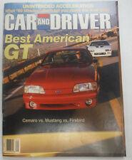 Car And Driver Magazine Camaro Vs Mustang Vs Firebird June 1987 060515R2