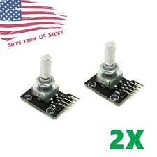2X Rotary Encoder Sensor Module w/ Pushbutton Switch KY-040 for Arduino AVR DIY