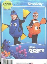 Simplicity 8239 Childs FISH COSTUME  Pattern Finding Nemo Dory Halloween New