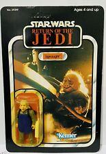 Vintage Star Wars Ugnaught Sealed Carded Action Figure MOC ROTJ Kenner 77 Back