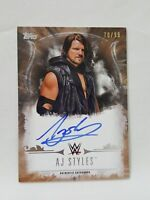 2016 Topps WWE Undisputed A.J AJ STYLES RC #/99 ON CARD AUTOGRAPH AUTO WRESTLING