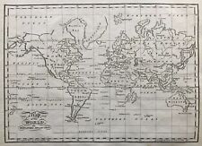 1802 Antique Map; The World on Mercator's Projection - George Kearsley