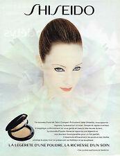 PUBLICITE ADVERTISING 025  1997  SHISEIDO   cosmétiques poudre