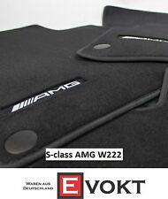 Mercedes-Benz AMG S-Class V222 Long Anthracite Velour Floor Mats Genuine New